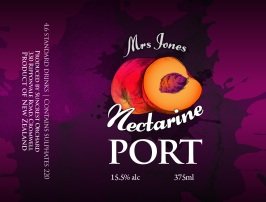 Nectarine Mrs Jones Fruit Ports_67x90mm
