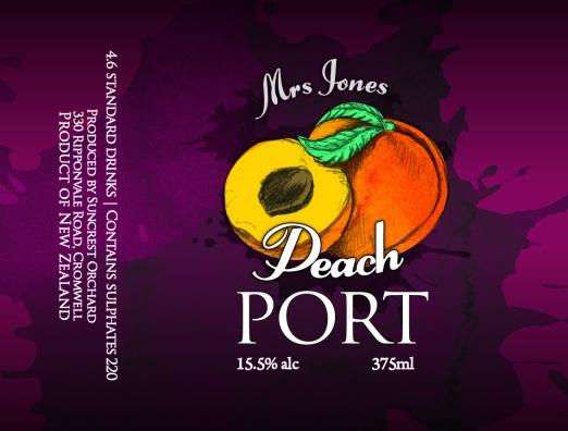 PEACH Mrs Jones Fruit Ports_67x90mm