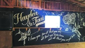 wedding mural nz