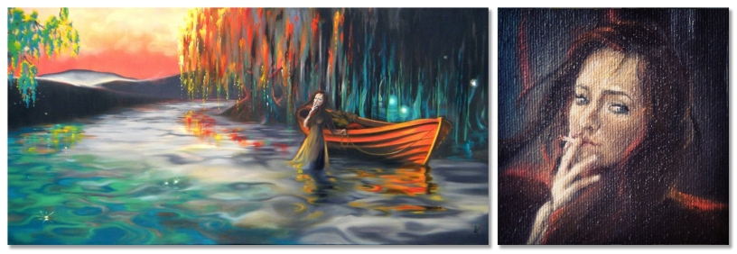 The lady of shalott oil painting