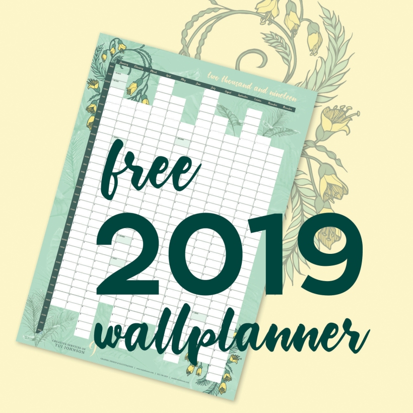 free wall planner insta
